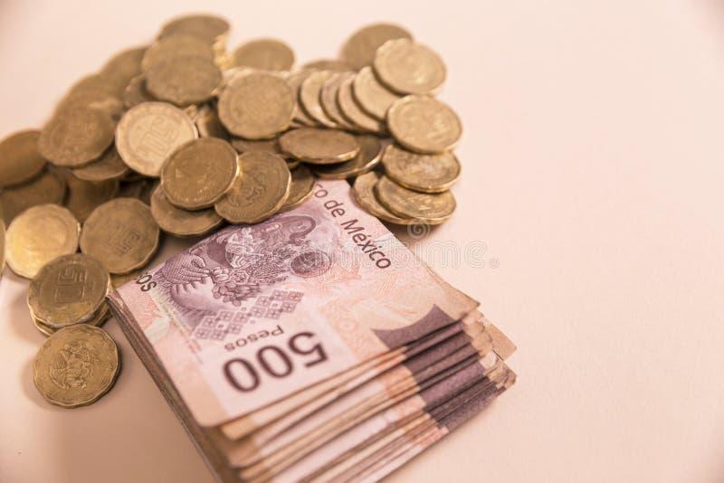 墨西哥比索金钱 免版税库存照片