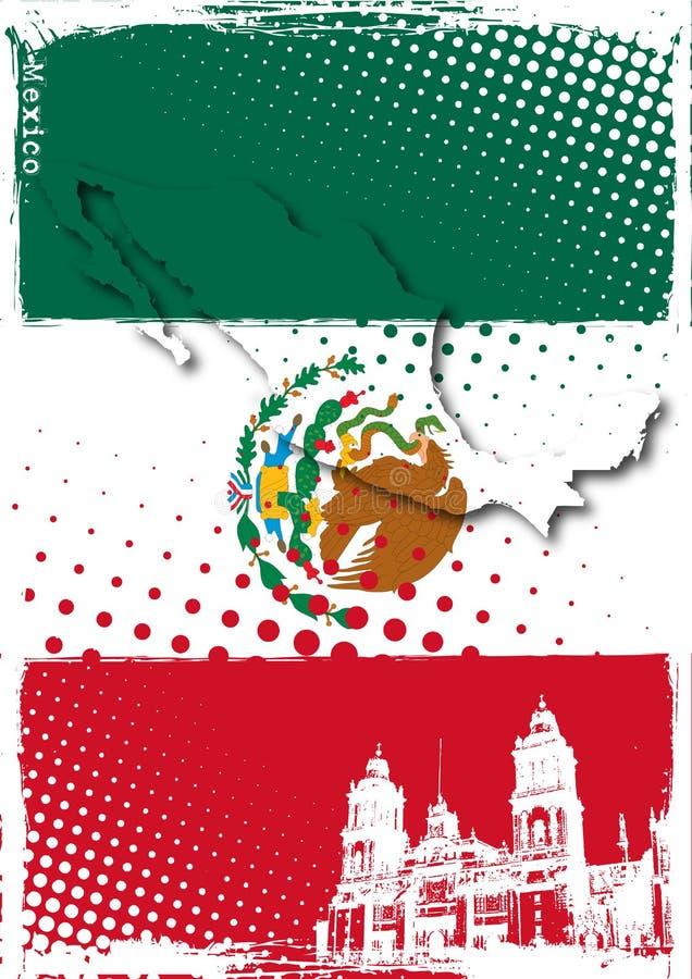 墨西哥海报 皇族释放例证