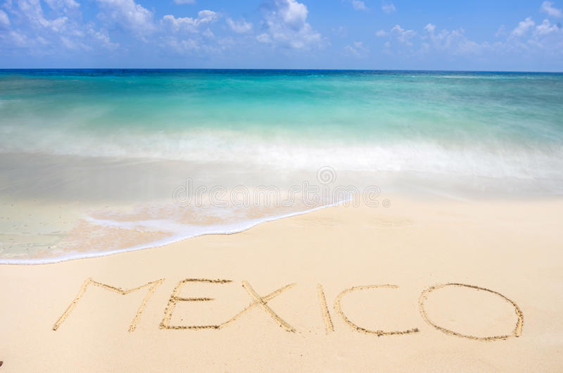 墨西哥热带海滩 库存照片