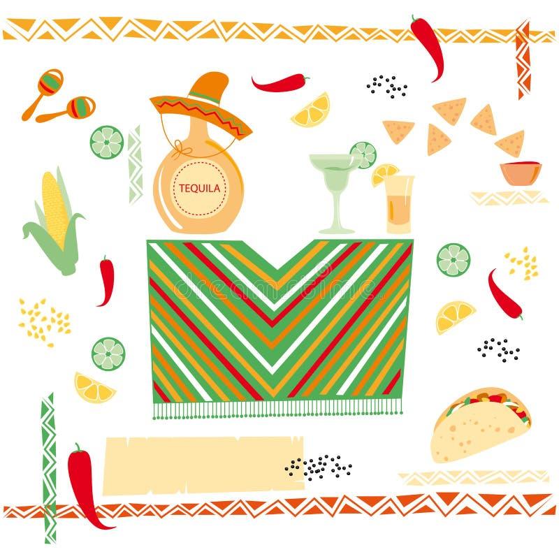 墨西哥烹调 库存例证