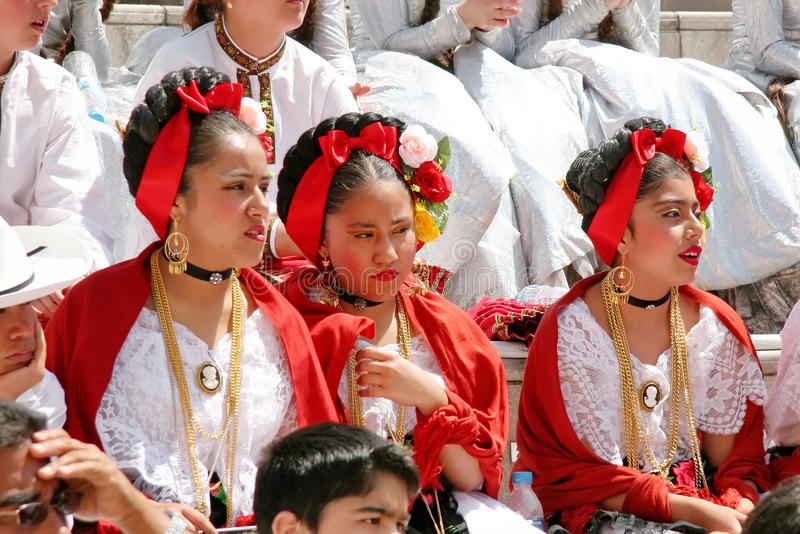 墨西哥的女孩 库存照片