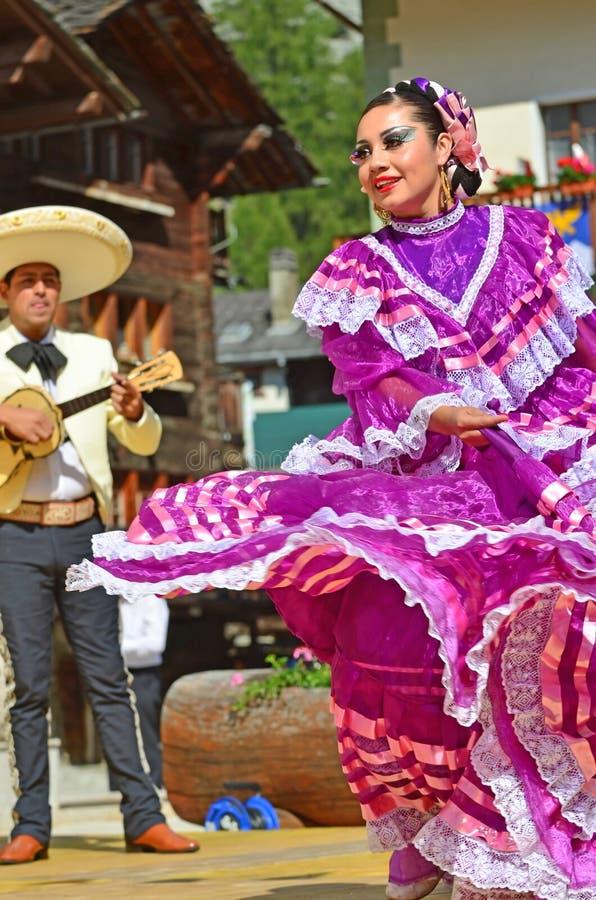 墨西哥的舞蹈演员 库存照片