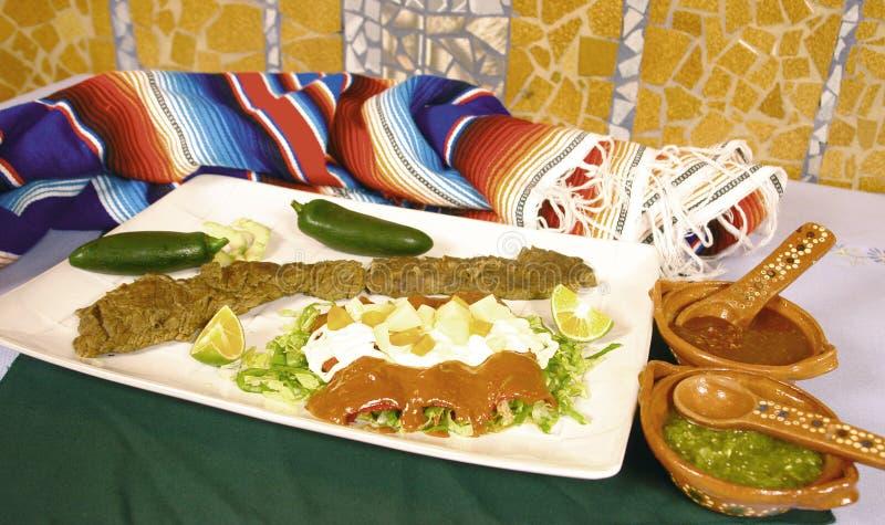 墨西哥的辣酱玉米饼馅 图库摄影