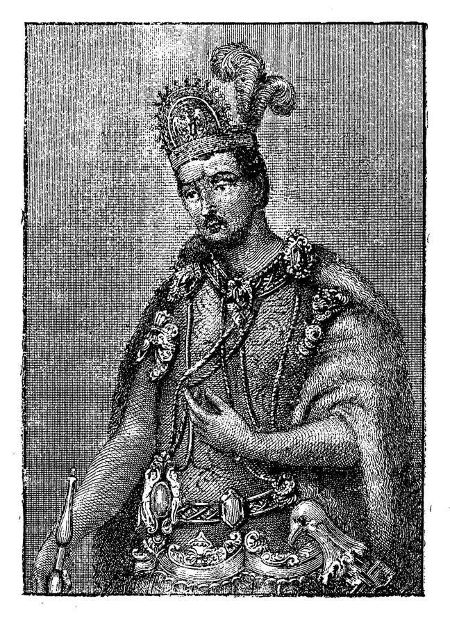 墨西哥的Monctezuma II皇帝画象  皇族释放例证