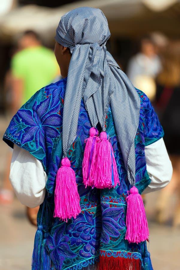 墨西哥礼服- Zinacantan恰帕斯州墨西哥 免版税图库摄影