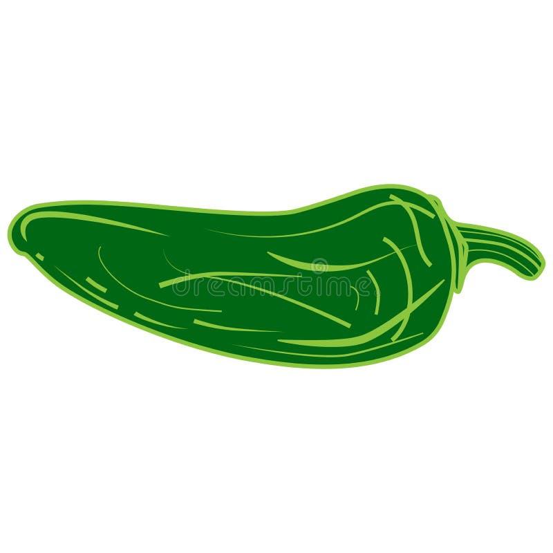 墨西哥胡椒青椒 库存例证