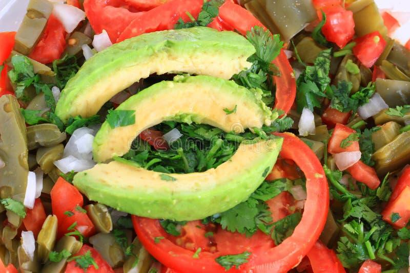 墨西哥胭脂仙人掌仙人掌沙拉 免版税图库摄影
