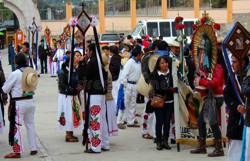 墨西哥舞蹈家叫los arrieros 库存图片