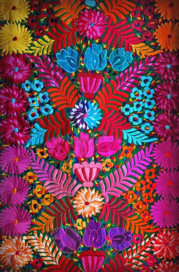 墨西哥花卉刺绣 库存照片