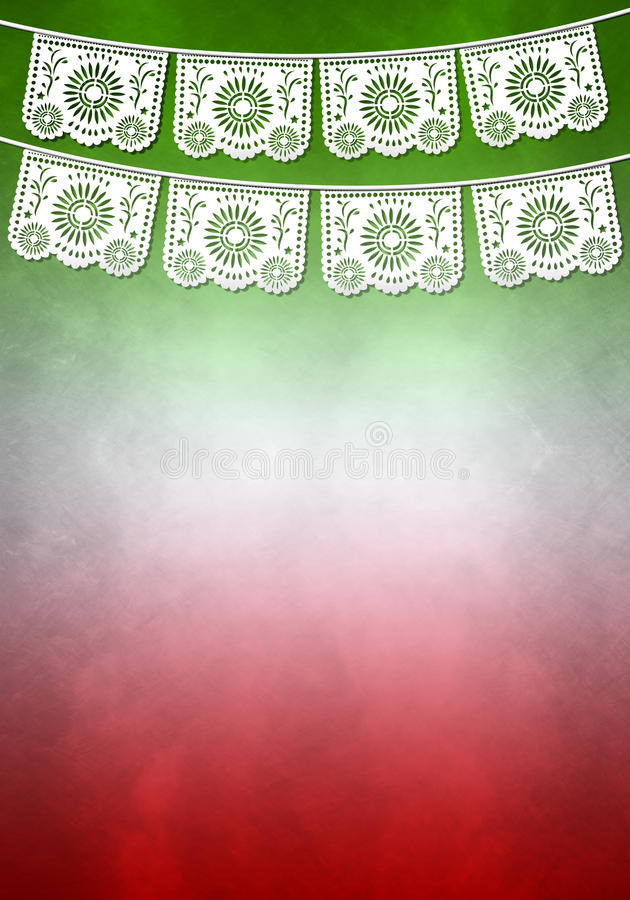 墨西哥装饰海报模板-复制空间 向量例证