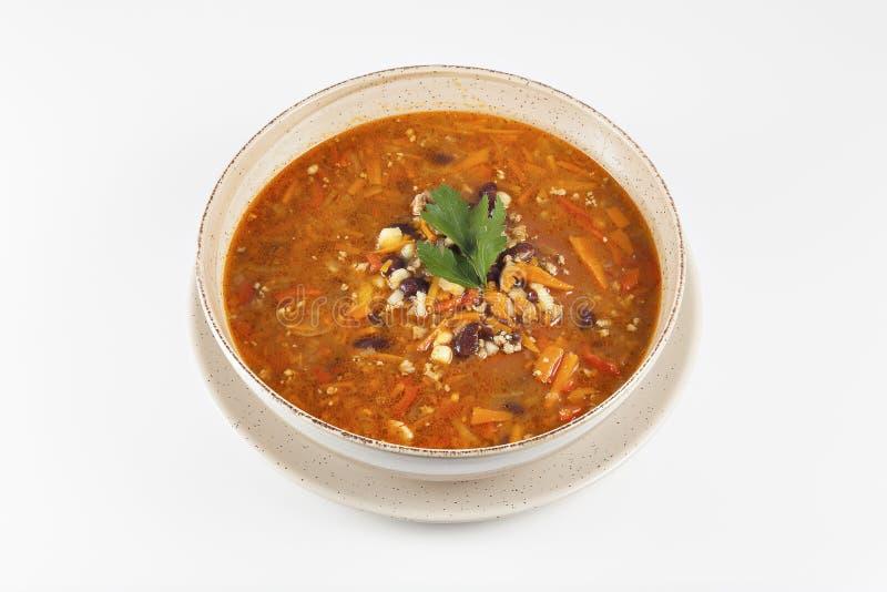 墨西哥豆汤 库存照片