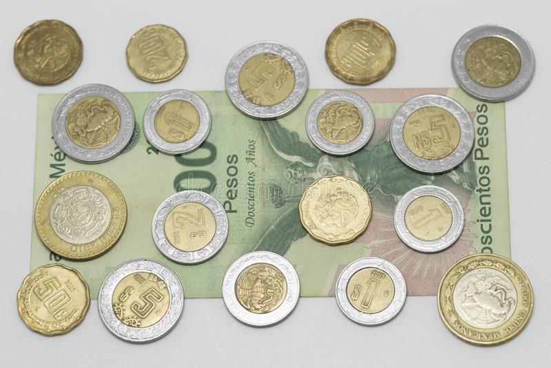 墨西哥货币比索 免版税库存照片