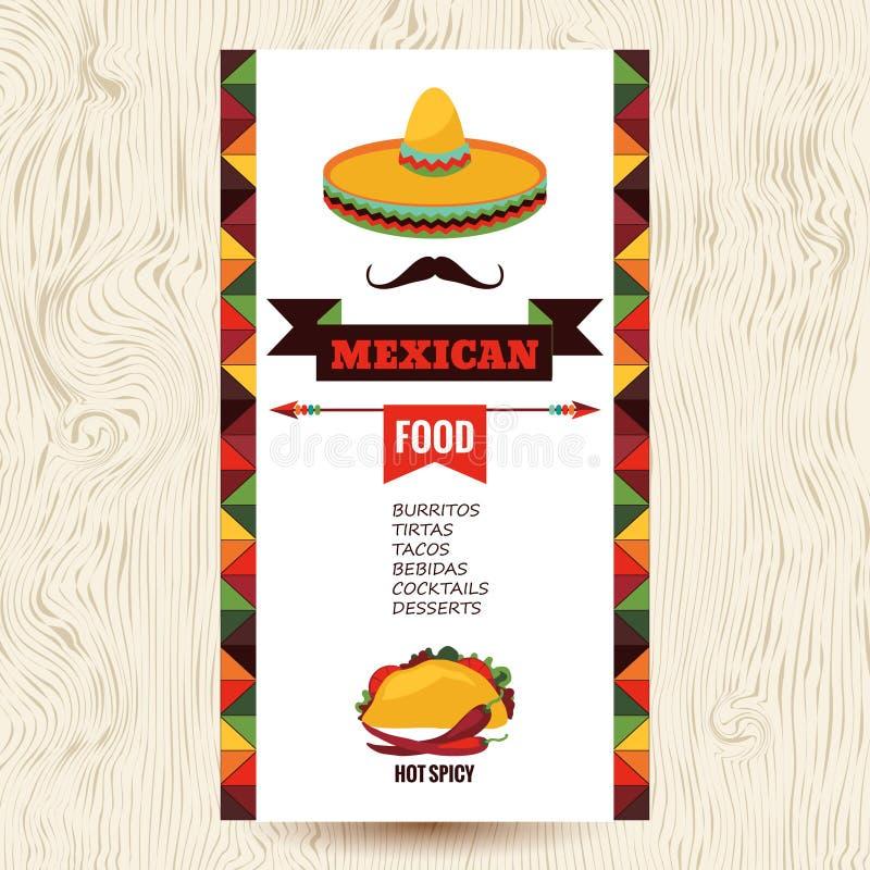 墨西哥食物 皇族释放例证