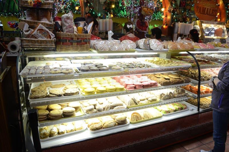 墨西哥餐馆内部 免版税库存照片