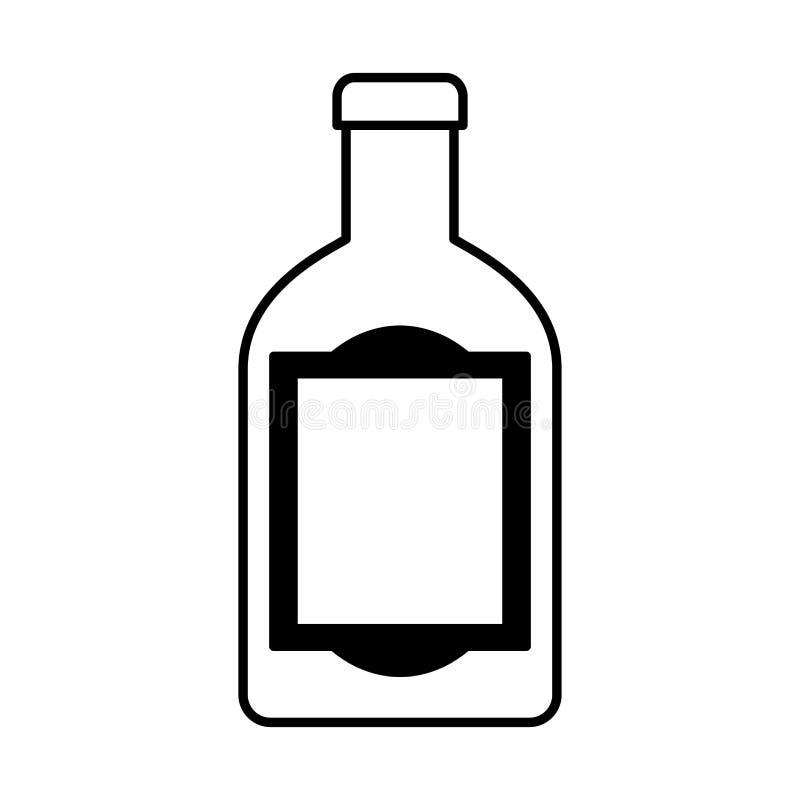 墨西哥龙舌兰酒瓶被隔绝的象 库存例证