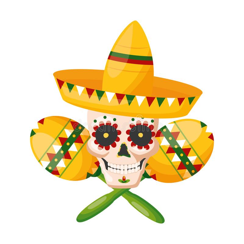 墨西哥cinco de马约角 皇族释放例证