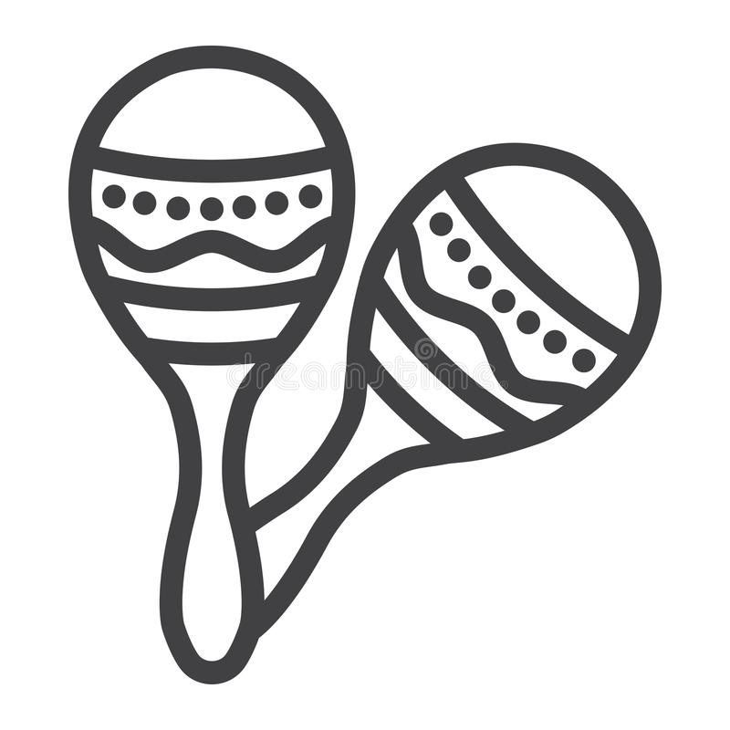墨西哥maracas排行象、音乐和仪器 库存例证