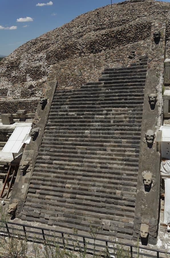 墨西哥quetzalcoatl寺庙 库存照片