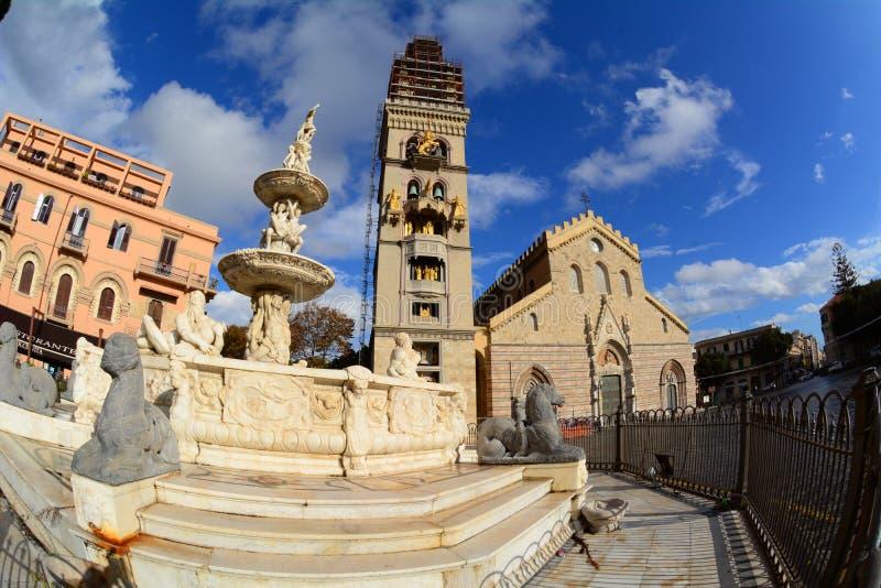 墨西拿,猎户星座喷泉  免版税图库摄影