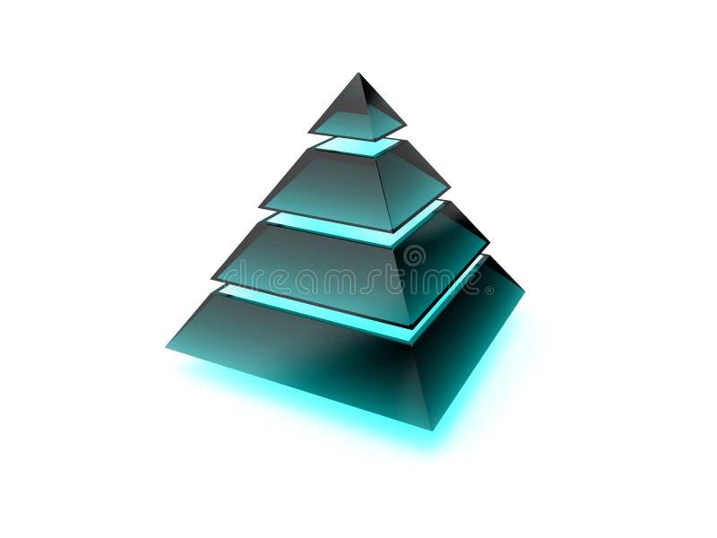 墨镜有启发性层状做的金字塔 库存例证
