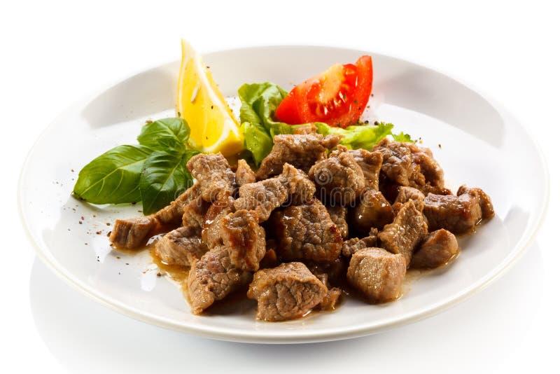 墩牛肉和菜 免版税库存照片
