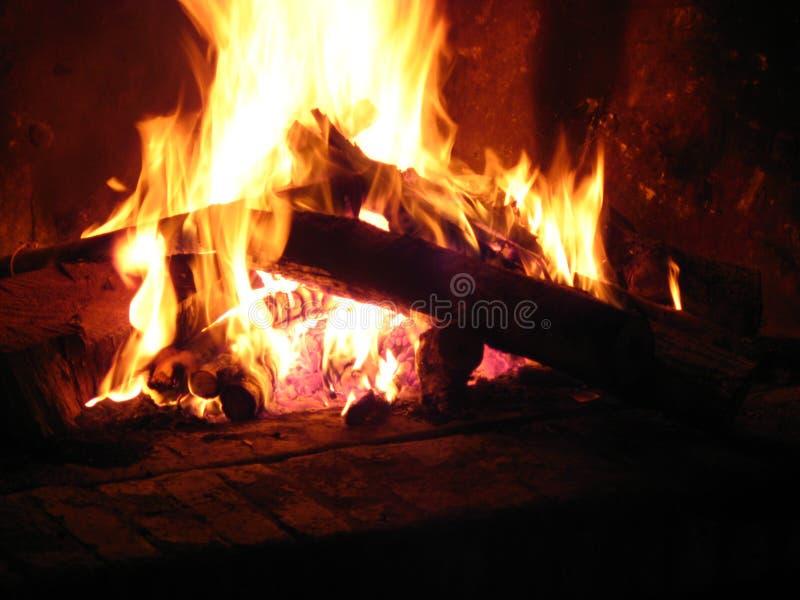 壁炉家庭热 免版税库存图片