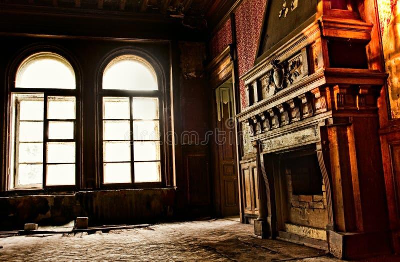 壁炉老废墟 库存图片