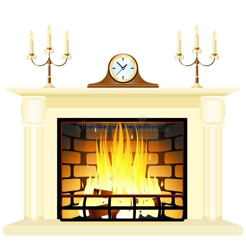 壁炉 向量例证