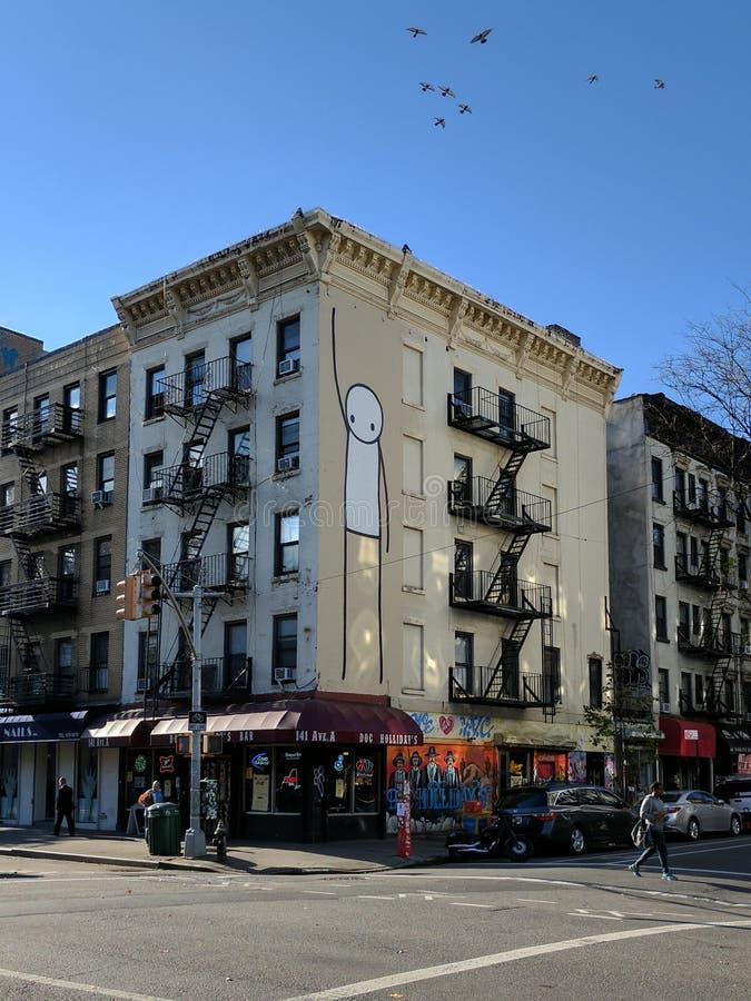 壁画在东部村庄,纽约 库存照片