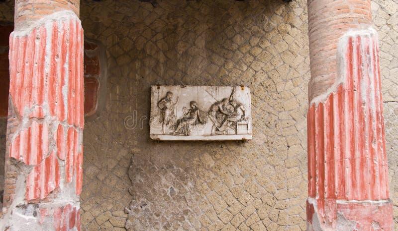 壁画赫库兰尼姆 库存图片