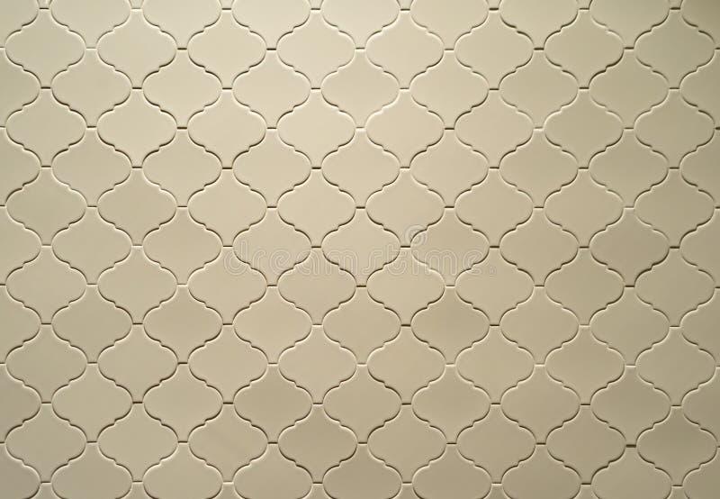 壁纸的具有花纹地板或壁饰的马赛克矩形瓷砖 室内建筑设计图案材料 免版税库存图片