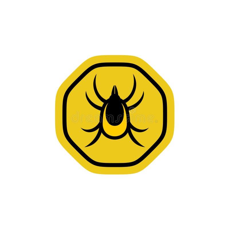 壁虱昆虫传染媒介 向量例证