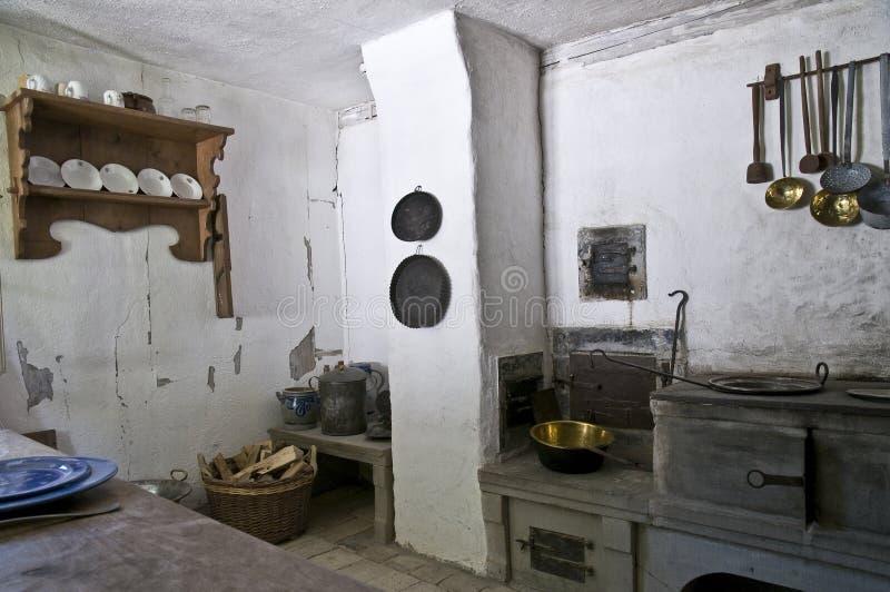 壁角厨房 图库摄影