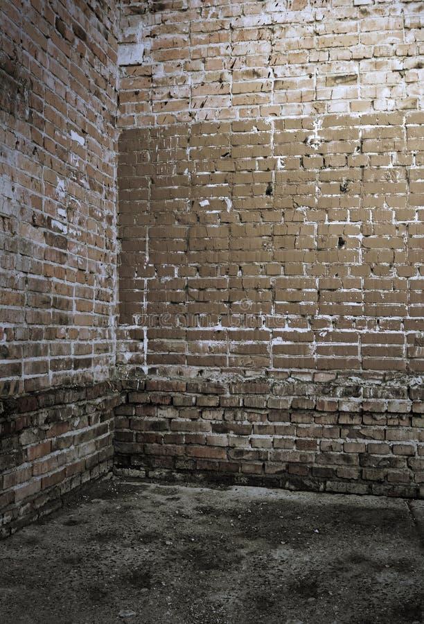 壁角坏内部老 免版税库存图片
