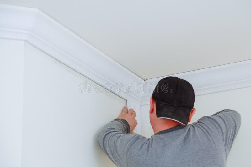 壁角油画外框天花板细节的设施  库存照片