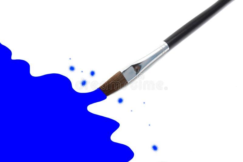 壁角绘画paintrush 库存图片