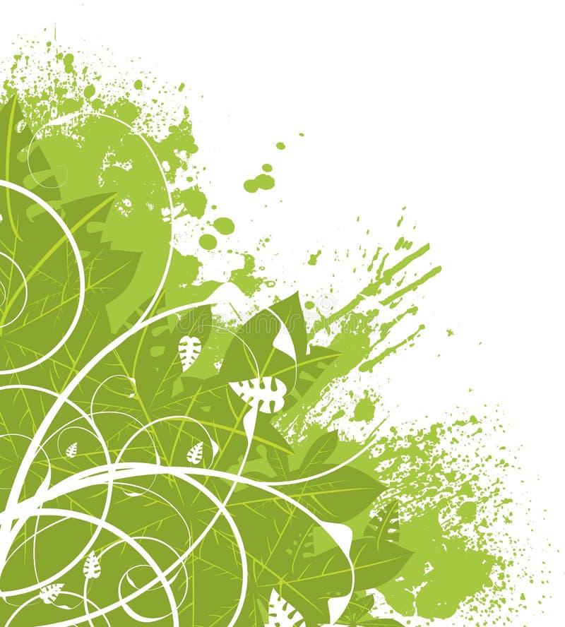 壁角花卉绿色 向量例证