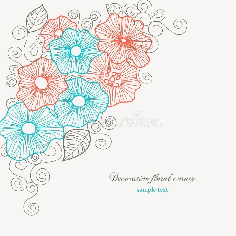 壁角花卉 库存例证