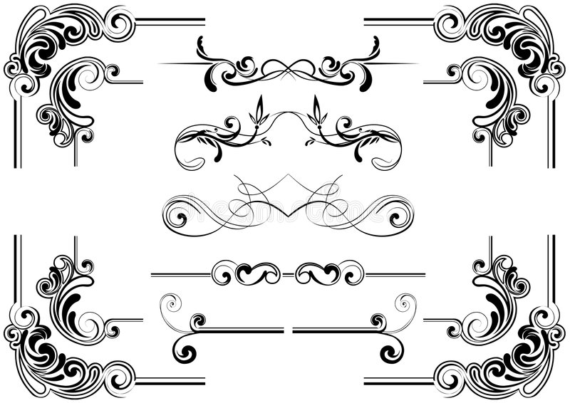 壁角设计滚动 库存例证