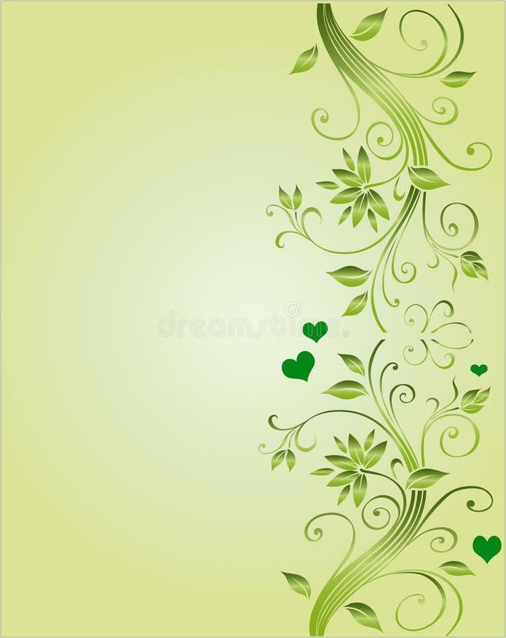 壁角设计花卉婚礼 向量例证