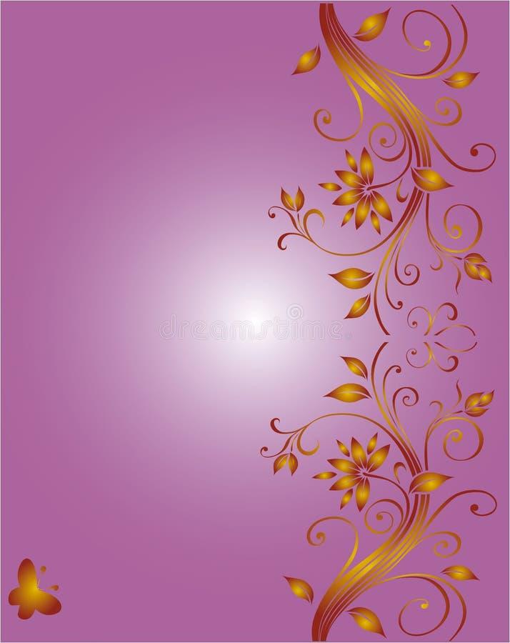 壁角设计花卉婚礼 皇族释放例证