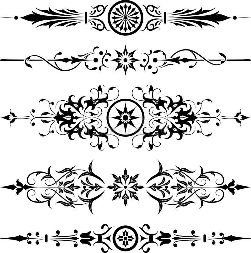 壁角设计要素花向量 皇族释放例证