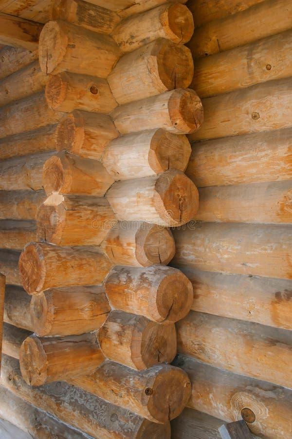 壁角连接注册木屋 免版税库存照片
