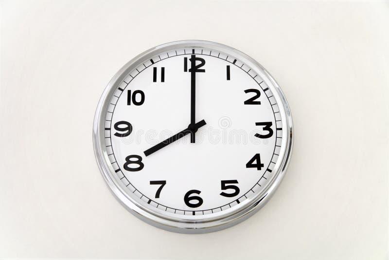 壁钟,时间测量,关闭  免版税库存照片