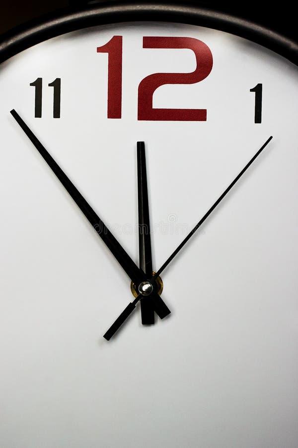 壁钟,片段 免版税库存图片