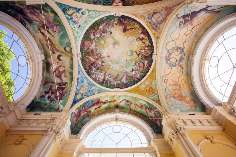 壁画, Marianske Lazne温泉 免版税图库摄影