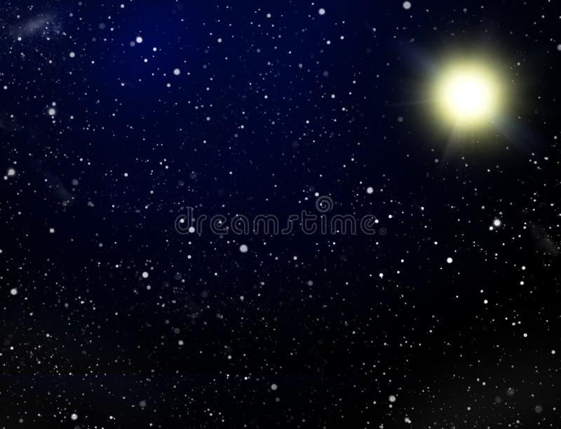 壅塞空间星形 皇族释放例证