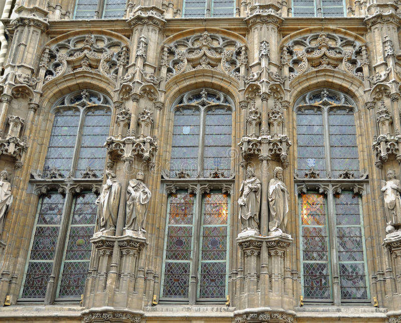 绅士中世纪市政厅  免版税库存照片
