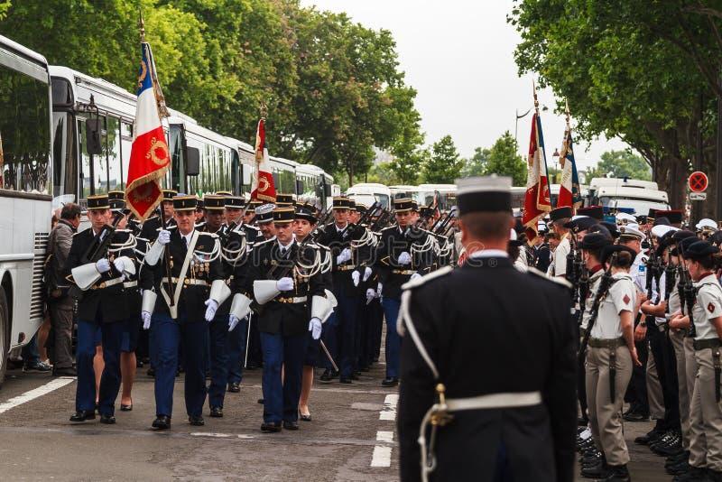 巴士底日在巴黎- 14 Juillet Ã巴黎 库存图片