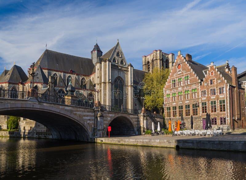 绅士都市风景-比利时 库存照片